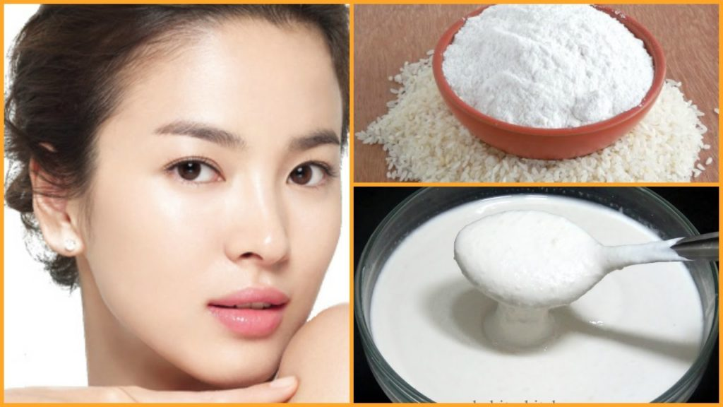 Rice flour as home remedies